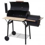 Barbecue-Smoker Hartford, Grill Kohlegrill Standgrill Räucherofen, 116x113x53cm
