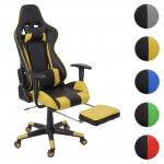 Relax-Bürostuhl HWC-D25 XXL, Schreibtischstuhl Gamingstuhl, 150kg belastbar Fußstütze