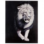 Ölgemälde Weißer Löwe, 100% handgemalt, 120x90cm