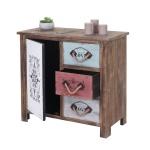 Kommode HWC-C59, Sideboard Schubladenschrank Schubladenkommode, Shabby-Look Vintage 1 Tür 3 Schubladen 80x84x40cm