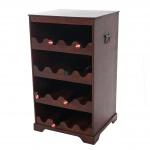 Weinregal Calvados T252, Flaschenregal Regal Holzregal für 16 Flaschen, Kolonialstil 66x38x34cm