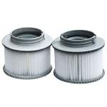 2x Wasserfilter für Whirlpool MSpa M-009LS/019LS HWC-A62, Ersatzfilter Filterkartusche, Zubehör