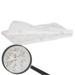 Wohndecke Schnee, Tagesdecke Kuscheldecke Sofadecke, flauschig weiß Pailletten 150x120cm