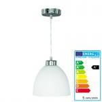 Reality|Trio LED-Pendelleuchte, nickel matt, 5W, D=20cm
