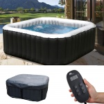 Whirlpool MSpa HWC-A62b, 2+2 Personen In-/Outdoor heizbar aufblasbar 158x158cm FI-Schalter