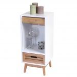 Kommode Larvik, Rollladen- Schubladenschrank, Retro-Design 71x30x30cm 1 Schublade