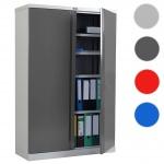Aktenschrank Valberg T331, Metallschrank Büroschrank Stahlschrank, 2 Türen 140x92x37cm anthrazit