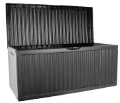 KISSENBOX Gartentruhe Truhe Gartenbox|330L|120x52x54cm