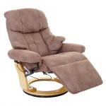MCA Relaxsessel Calgary 2, Fernsehsessel Sessel, Textil 150kg belastbar antikbraun, naturbraun