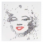 Ölgemälde Marilyn, 100% handgemalt XL, 100x100cm