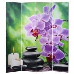 Foto-Paravent Stones, Paravent Trennwand Raumteiler, 180x160cm