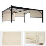 Ersatzbezug für Dach Pergola Pavillon Granada, 3x3m creme