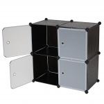 Regalsystem Sydney T307, Steckregal, 4 Boxen je 36x36x36cm schwarz