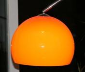 Schirm für Bogenlampe, Ø 40cm, Kunststoff orange