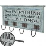Wandgarderobe Camden, Garderobe Garderobenpaneel, 3D Schriftzug Shabby-Look Vintage 54x25cm