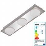 Briloner LED Deckenleuchte, Deckenlampe Badlampe, inkl. Leuchtmittel EEK A+ 13, 5W 3-flammig