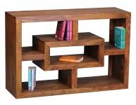 Design Bücherregal Malatya, Standregal Regal, Sheesham Massivholz, 70x105x35cm