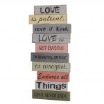 Wandschild Love, Holzschild Schild, Shabby-Look 61cm