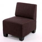 Modular Sofa Lyon Stoff/Textil braun Mittelteil