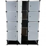 Regalsystem Sydney T306, Garderobe, 8 Boxen je 37x37x47cm schwarz
