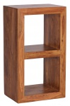Standregal Malatya, Regal mit 2 Böden, Sheesham Massivholz, 88x50x35cm