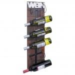 Weinregal HWC-A90, Flaschenregal Wandregal Flaschenhalter, Holz Metall für 6 Flaschen 75x20x11cm