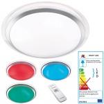 Reality|Trio LED-Deckenleuchte RL133, Effektleuchte, Farbwechsel RGB 13W EEK A+