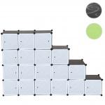 Regalsystem Sydney T307, Steckregal, 18 Boxen je 36x36x36cm schwarz