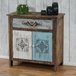 Kommode Funchal Schrank Shabby-Look, Vintage, 84x80x40cm