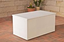 Auflagenbox, Kissenbox, Gartentruhe weiß