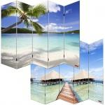 Foto-Paravent Paravent Raumteiler Spanische Wand M68, 5 Panels