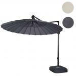 Ampelschirm HWC-A34, Sonnenschirm mit Ständer/Schutzhülle, drehbar Ø 2, 8m Polyester Alu/Stahl 25kg