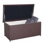 Poly-Rattan Kissenbox HWC-D43, Truhe Auflagenbox Gartentruhe, 51x100x50cm 160l