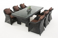 Garten-Garnitur CP065,, Sitzgruppe Lounge-Garnitur, Poly-Rattan