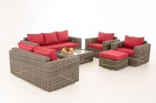 3-2-1-1 Sofa-Garnitur CP050 Lounge-Set Gartengarnitur Poly-Rattan