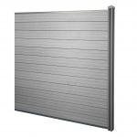 WPC-Sichtschutz Sarthe, Windschutz Zaun, WPC-Pfosten