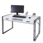 Schreibtisch HWC-A27, Bürotisch Computertisch, 121x70cm 3D-Struktur