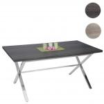 Esszimmertisch Fano, Tisch Esstisch, Edelstahl 3D-Struktur 160x90cm