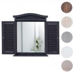 Wandspiegel Spiegelfenster mit Fensterläden 53x42x5cm