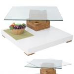 MCA Couchtisch HL Design Amadeo, Wohnzimmertisch, Wildeiche massiv 40x80x80cm