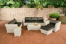 Poly-Rattan Gartengarnitur Sousse, Sofa-Garnitur Lounge-Set