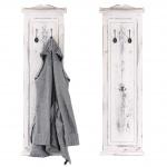 2x Garderobe Wandgarderobe Garderobenpaneel Wandhaken 109x28x4cm