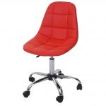 Drehstuhl HWC-A86, Bürostuhl Arbeitshocker, Schalensitz Kunstleder
