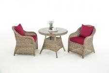 Garten-Garnitur CP063, Sitzgruppe Lounge-Garnitur, Poly-Rattan