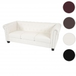 Luxus 3er Sofa Chesterfield Kunstleder