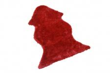 Lammfellimitat H01, Dekorationsfell Sesselauflage, 120x75cm