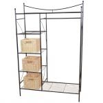 Metall-Garderobe H147, Garderobenständer Kleiderschrank Metallregal, 169x111x40cm