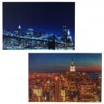 2x LED-Bild Leinwandbild Leuchtbild Wandbild 60x40cm, Timer