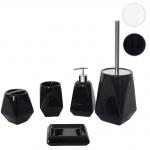 5-teiliges Badset HWC-C71, WC-Garnitur Badezimmerset Badaccessoires, Keramik