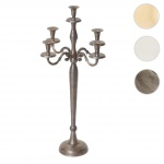 Kerzenleuchter HWC-D81, Kerzenständer Leuchter Kerzenhalter, 5-armig aus Aluminium 60cm massiv 1, 6kg